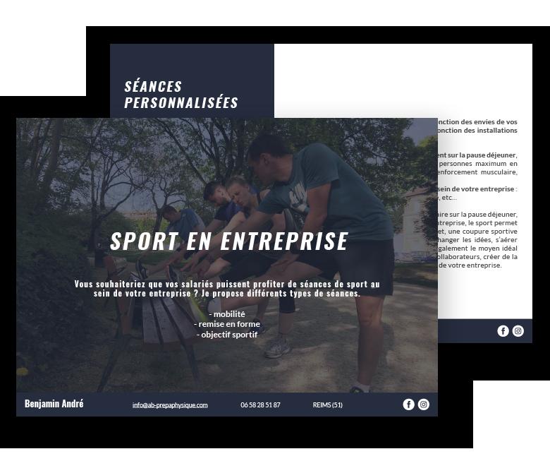 """aperçu du document """"sport en entreprise"""" de Benjamin André"""